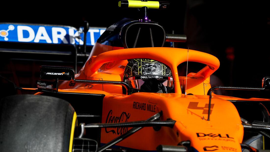 Lando Norris - McLaren - Formel 1 - Test - Bahrain - 13. März 2021
