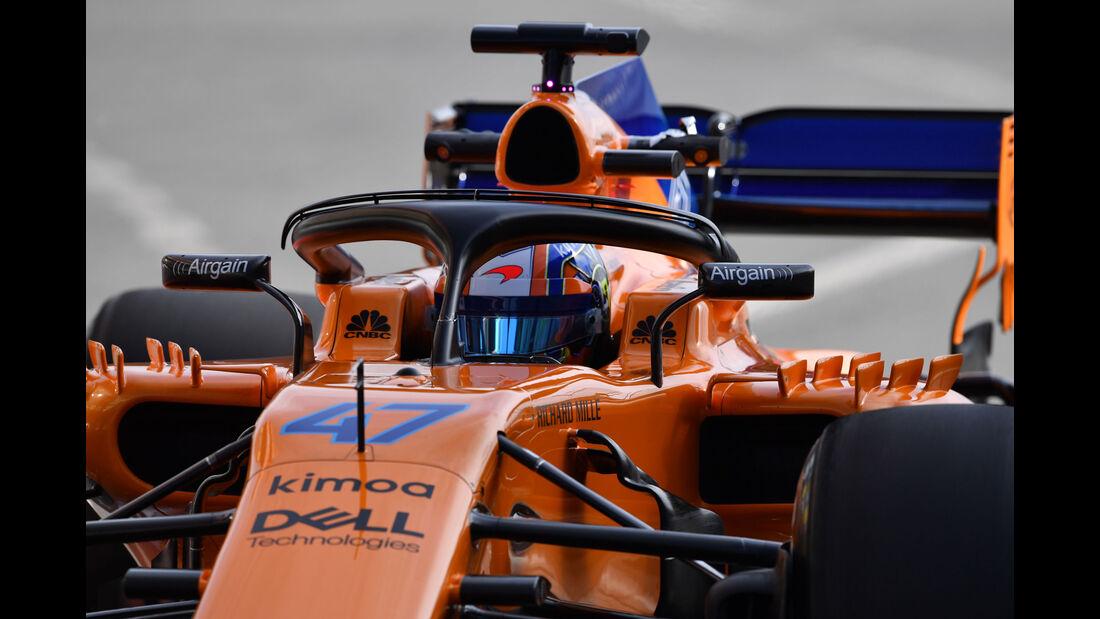 Lando Norris - McLaren - Formel 1 - Testfahrten - Barcelona - Dienstag - 15.5.2018