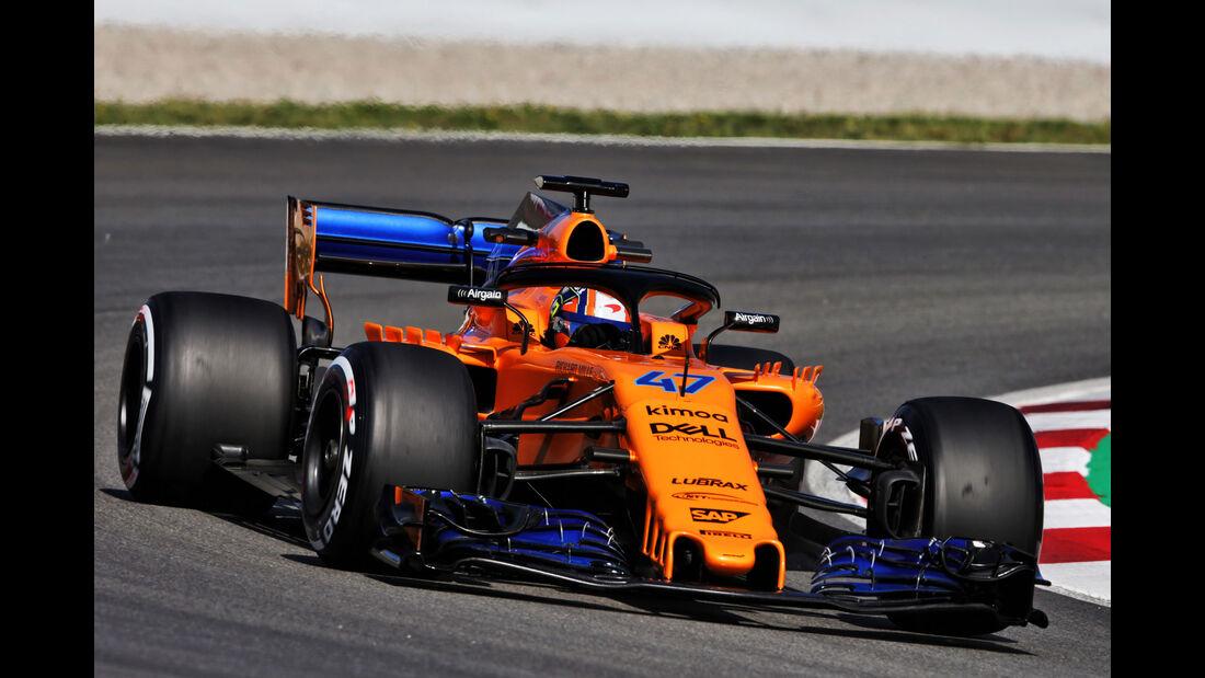 Lando Norris - McLaren - Formel 1 - Testfahrten - Barcelona - Dienstag - 15-5-2018