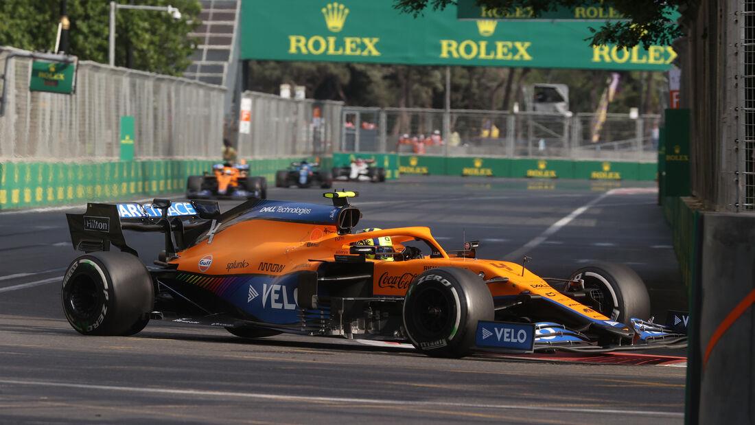 Lando Norris - McLaren - GP Aserbaidschan 2021 - Baku - Rennen