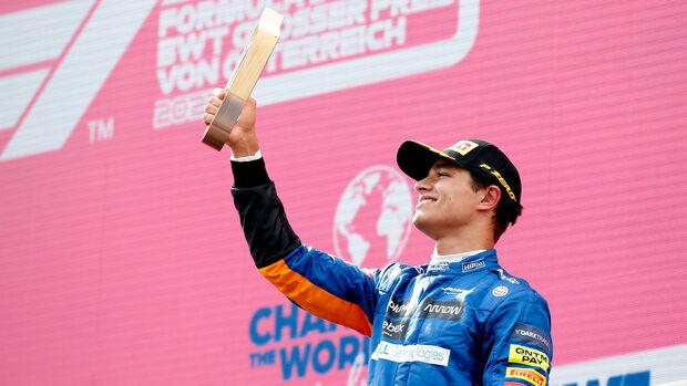 Lando Norris - McLaren - GP Österreich 2021 - Speilberg - Rennen