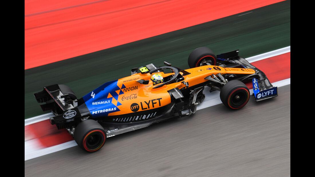 Lando Norris - McLaren - GP Russland - Sotschi - Formel 1 - Freitag - 27.9.2019