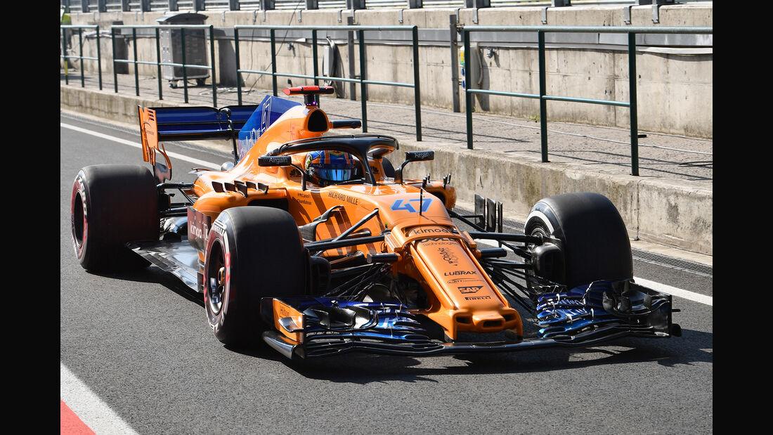 Lando Norris - McLaren - GP Ungarn - Budapest - F1-Test - 31. Juli 2018