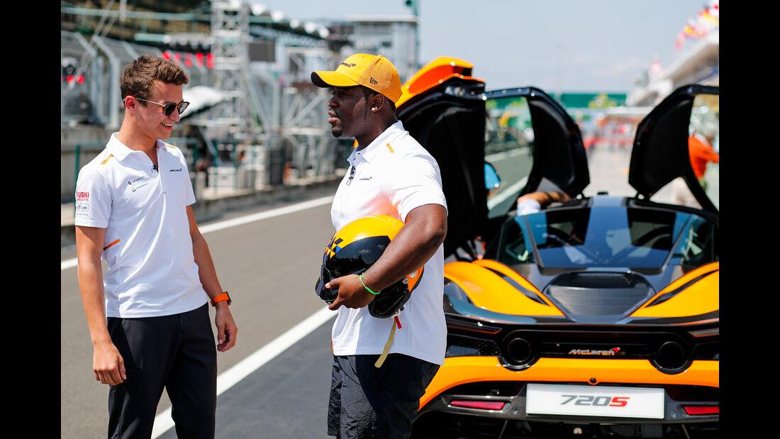 Lando Norris - McLaren - GP Ungarn - Budapest - Formel 1 - Donnerstag - 1.08.2019