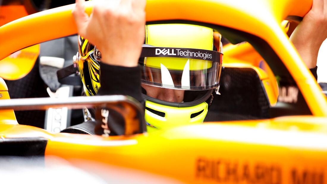 Lando Norris - McLaren MCL35M - Shakedown - Silverstone - 2021