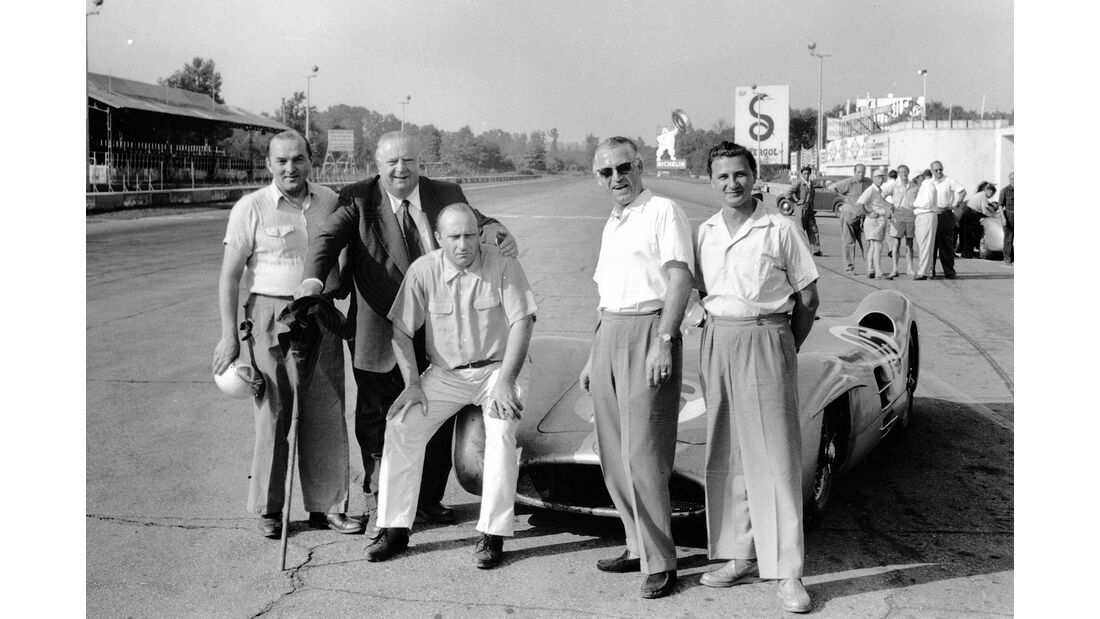 Lang, Neubauer, Fangio, Kling & Hans Herrmann - GP Italien 1954