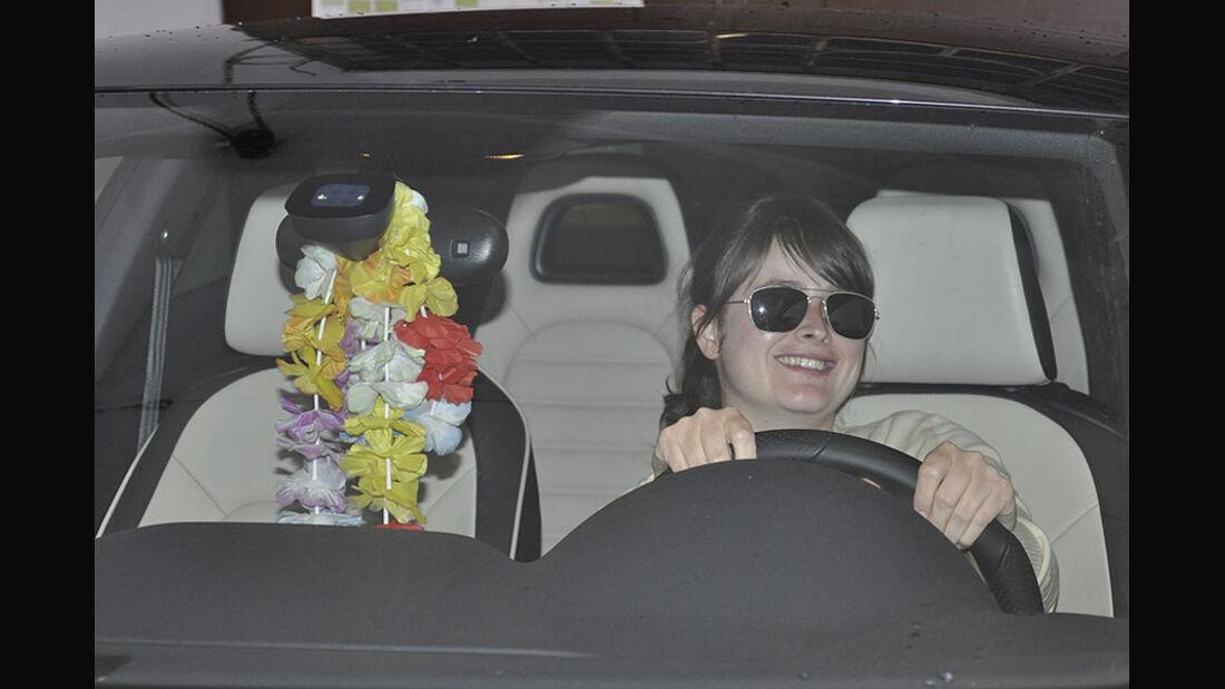 Laolakette im Auto