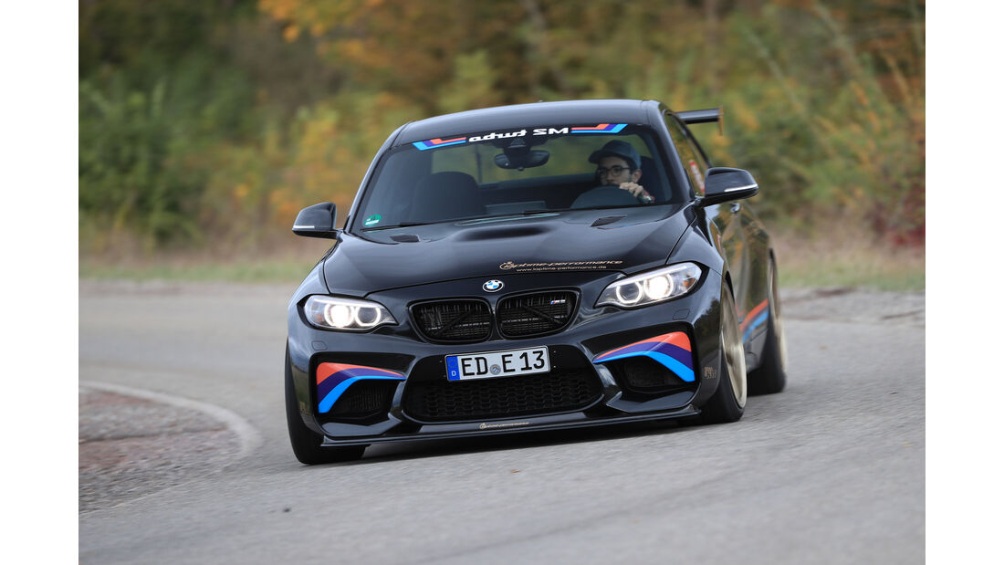 Laptime Performance-BMW M2, Frontansicht