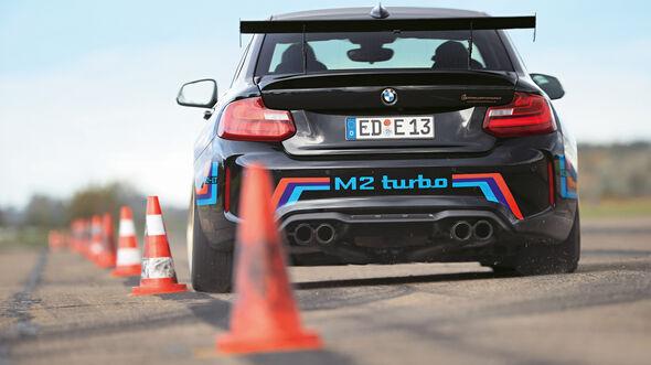 Laptime Performance-BMW M2, Heckansicht
