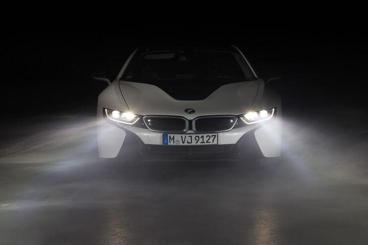 Laserlicht, BMW i8, Frontansicht