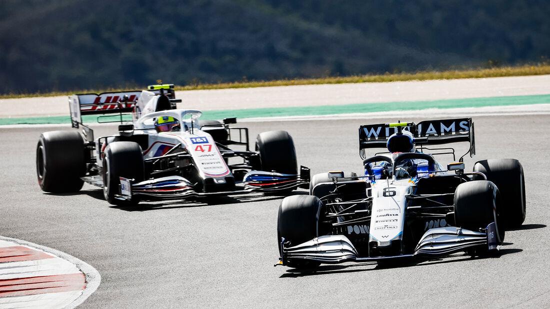 Latifi vs. Schumacher - Formel 1 - GP Portugal 2021