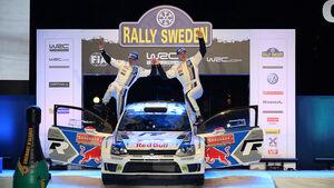 Latvala, WRC, Siegerehrung, VW Polo R WRC, Rallye Schweden 2014