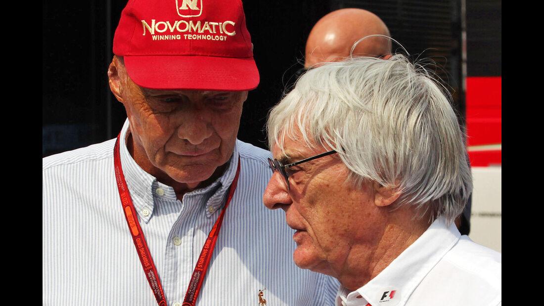 Lauda & Ecclestone - Formel 1 - GP Italien - Monza - 2. September 2016