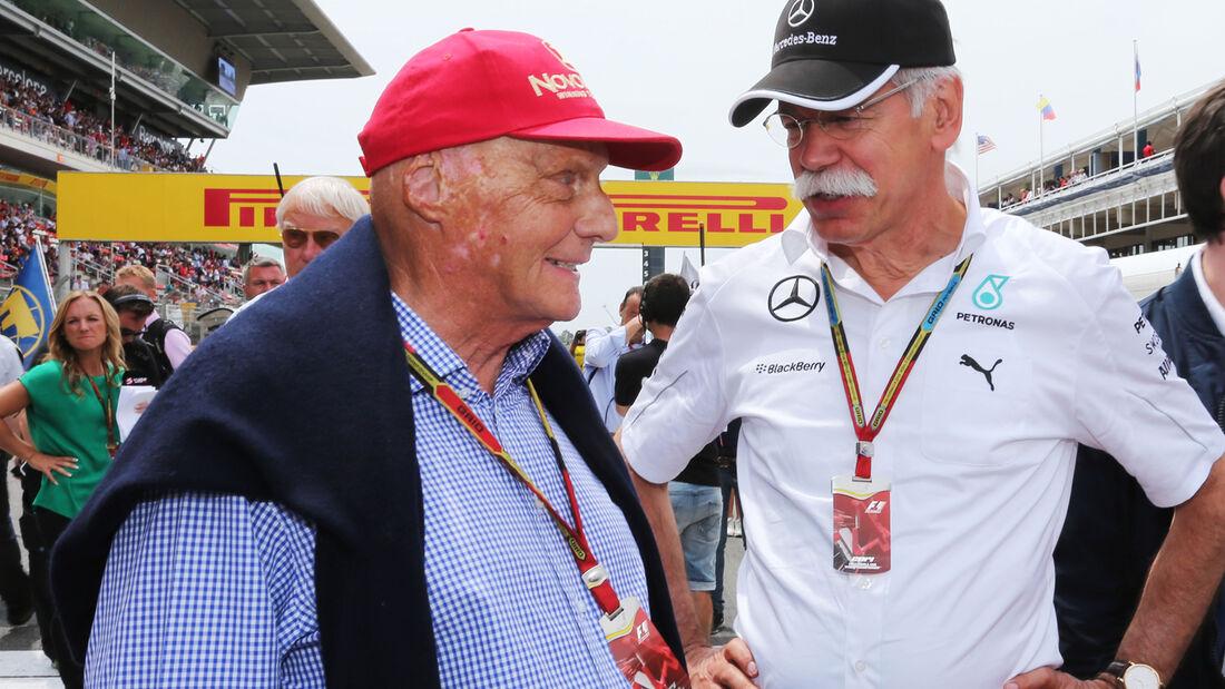 Lauda & Zetsche - GP Spanien 2014