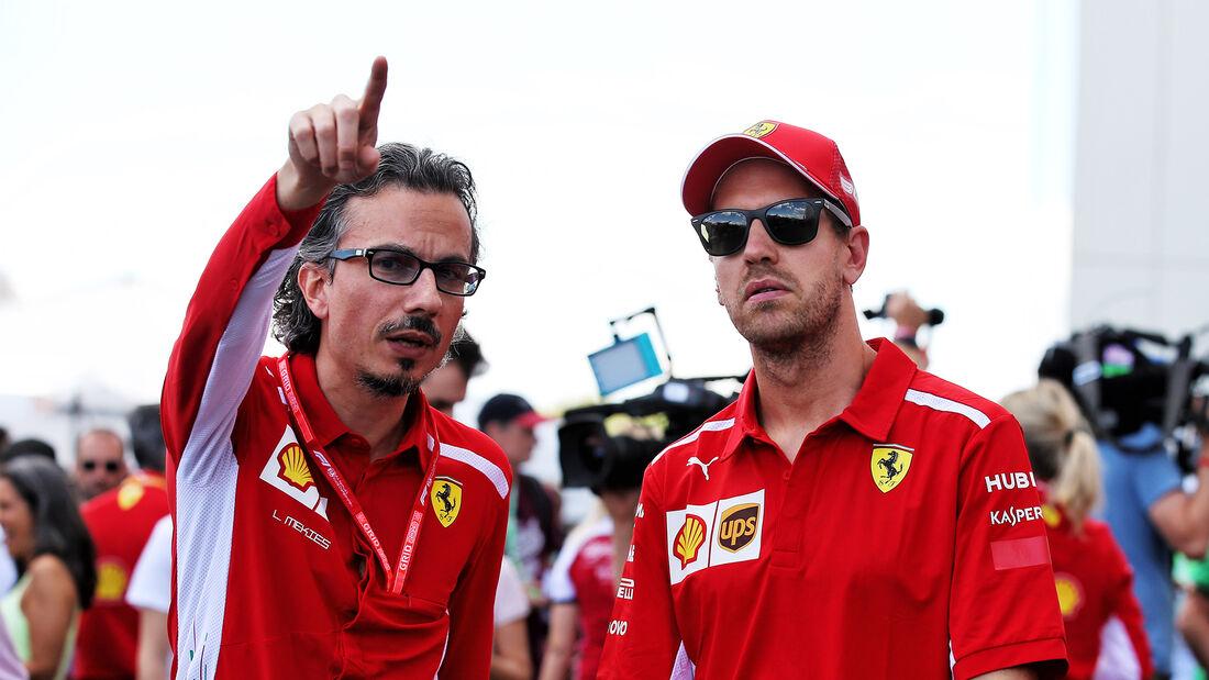 Laurent Mekies & Sebastian Vettel - Ferrari - F1 2019