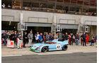 Le Mans Classic, Gulf, Mirage, Boxengasse