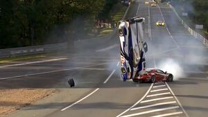 Le Mans Crash Davidson Toyota 2012