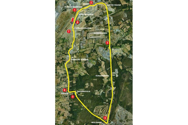 LeMans, Streckenplan