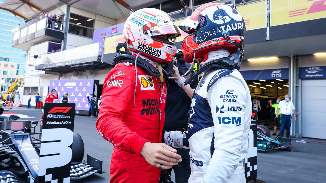 Leclerc - Gasly - GP Aserbaidschan 2021 - Baku - Rennen