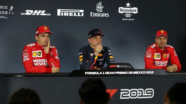 Leclerc, Verstappen & Vettel - Formel 1 - GP Mexiko - 26. Oktober 2019