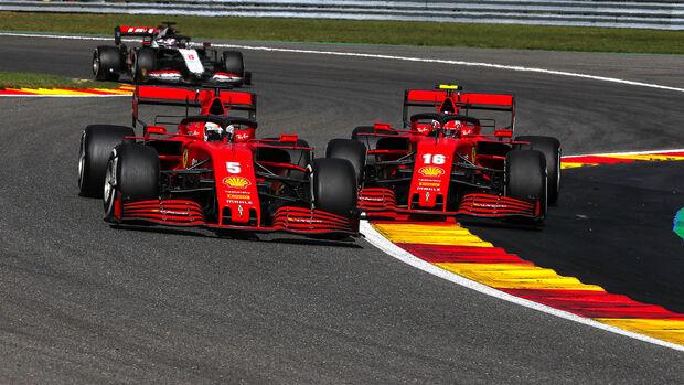 Leclerc & Vettel - Ferrari - GP Belgien 2020