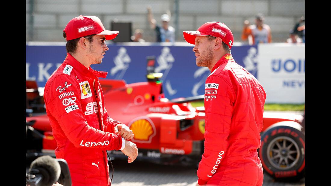 Leclerc - Vettel - Ferrari - GP Belgien - Spa-Francorchamps - Formel 1 - Samstag - 31.8.2019
