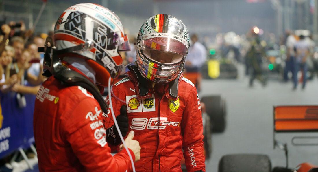 Leclerc - Vettel - Ferrari - GP Singapur 2019 - Rennen