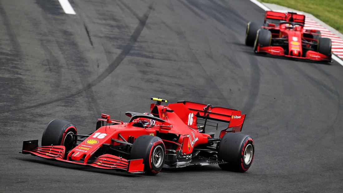 Leclerc & Vettel - Ferrari - GP Ungarn 2020