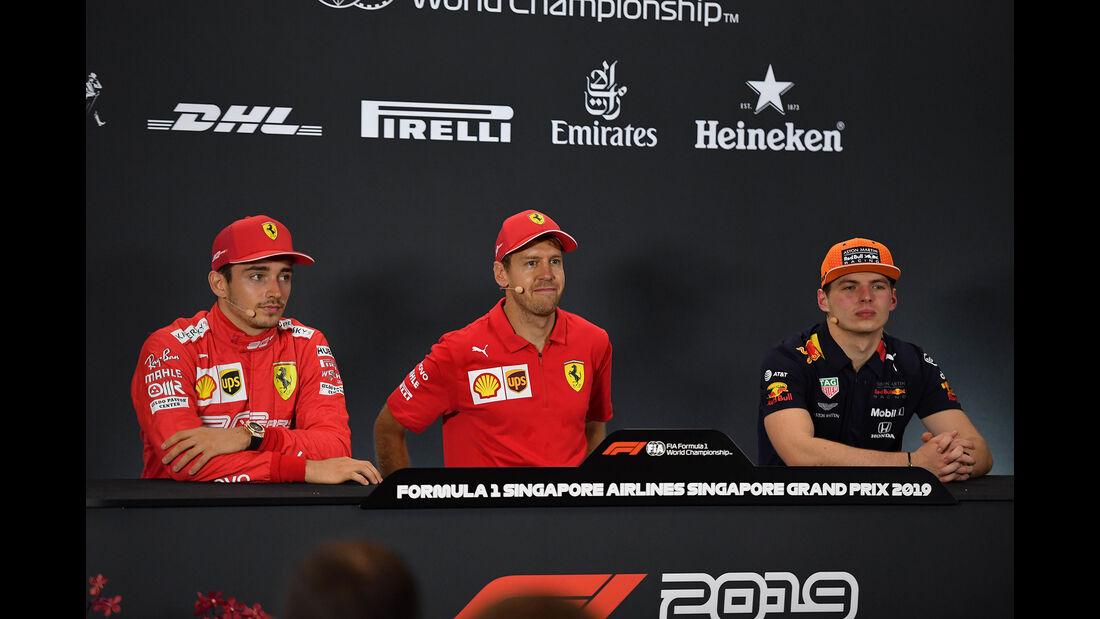 Leclerc, Vettel & Verstappen - GP Singapur 2019