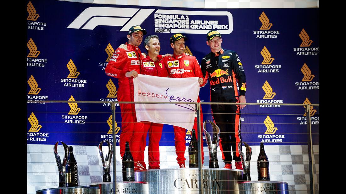 Leclerc - Vettel - Verstappen - GP Singapur 2019 - Rennen