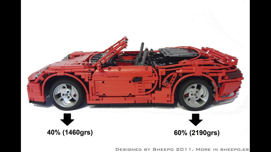 Lego Technik Auto-Nachbauten, Porsche 911 Cabrio