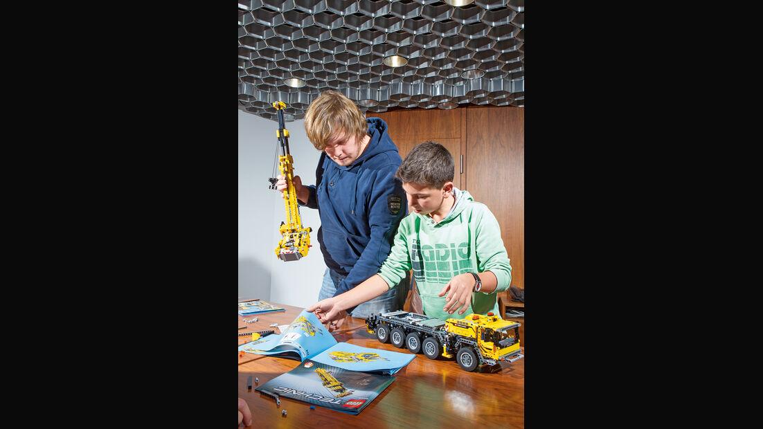 Lego-Technik, Chassis, Kranaufbau
