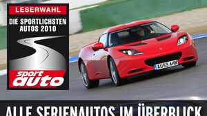 Leserwahl - Die sportlichsten Autos 2010 (Serienautos)
