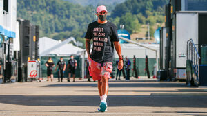 Lewis Hamilton - Anti-Rassismus - GP Toskana 2020