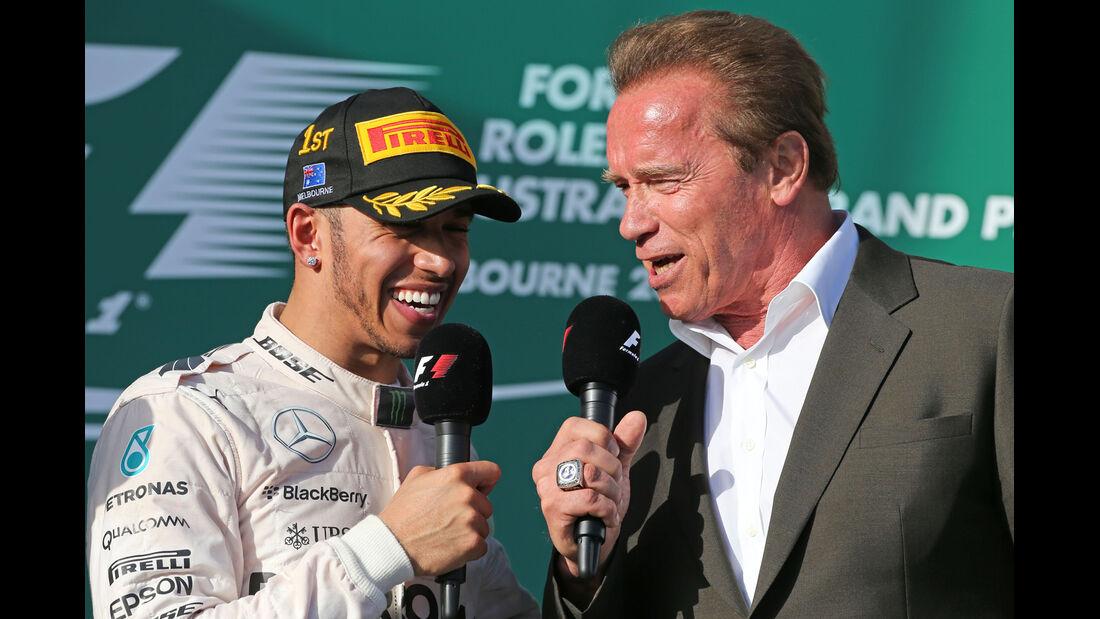 Lewis Hamilton & Arnold Schwarzenegger - Formel 1 - GP Australien 2015