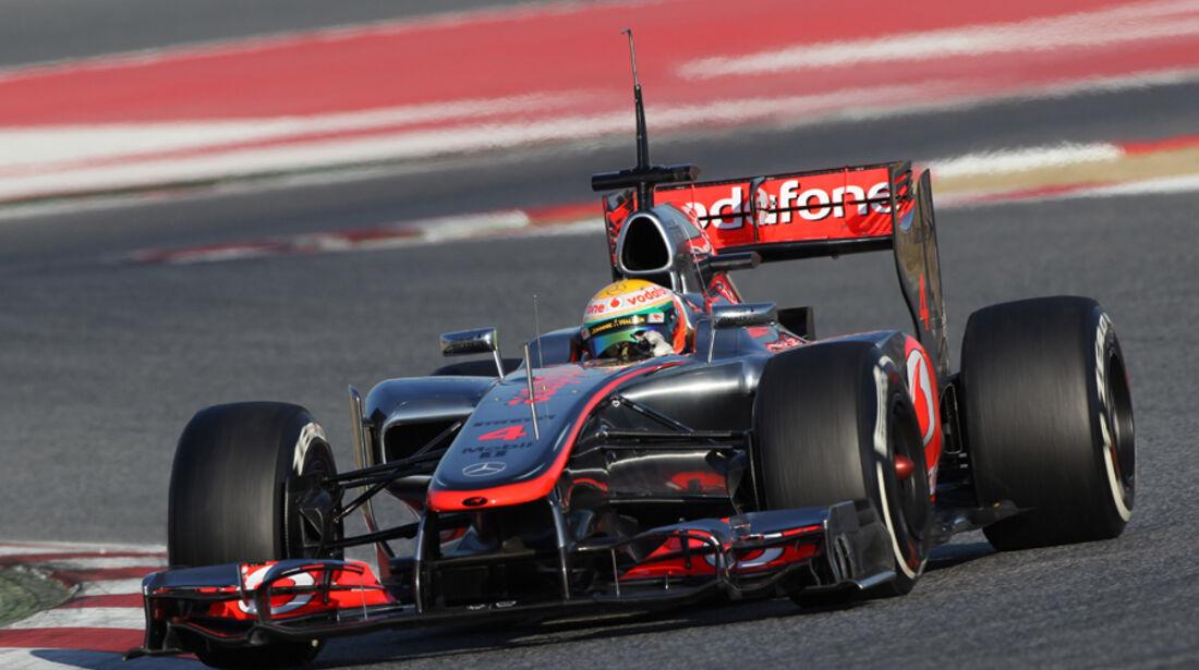 Lewis Hamilton Barcelona F1-Test 2012