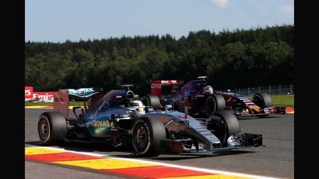 Lewis Hamilton & Carlos Sainz - Formel 1 - GP Belgien - Spa-Francorchamps - 21. August 2015