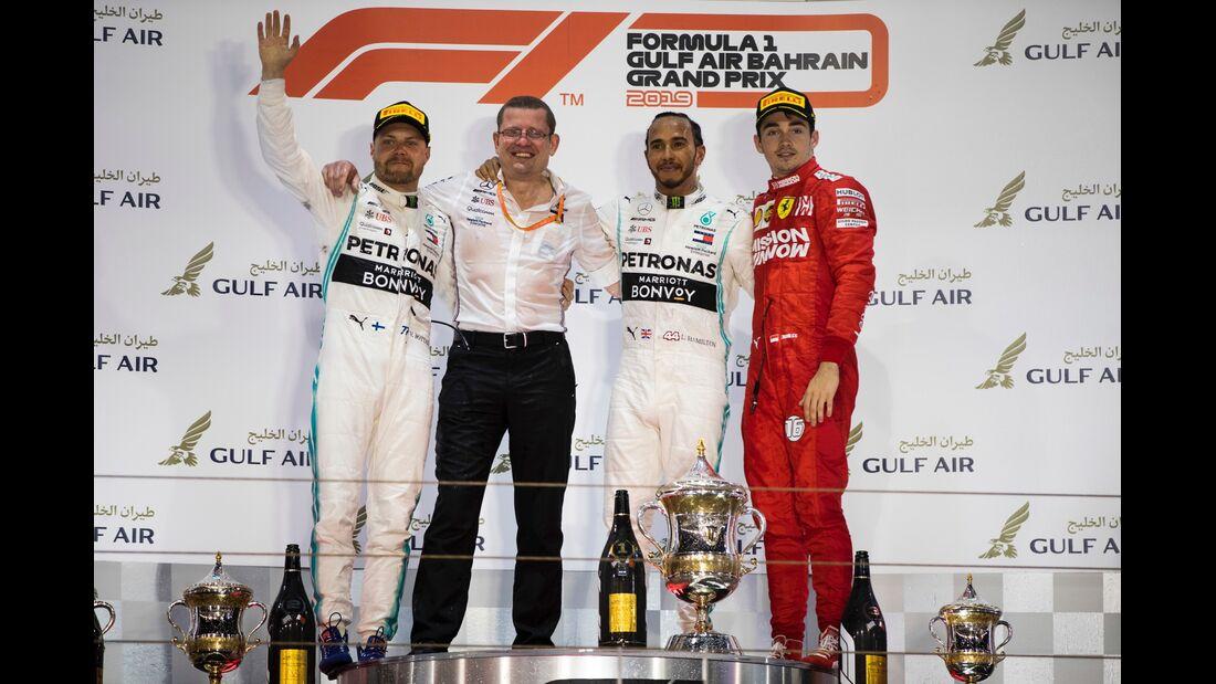 Lewis Hamilton - Charles Leclerc - Valtteri Bottas - Formel 1 - GP Bahrain - 31. März 2019