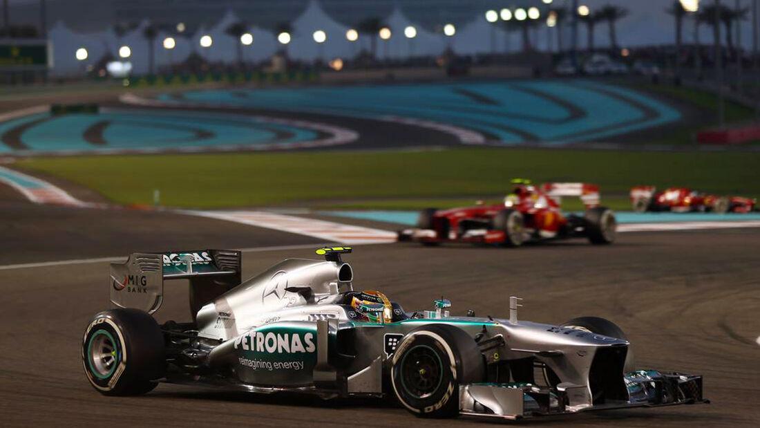 Lewis Hamilton - Esteban Gutierrez - Formel 1 - GP Abu Dhabi - 03. November 2013