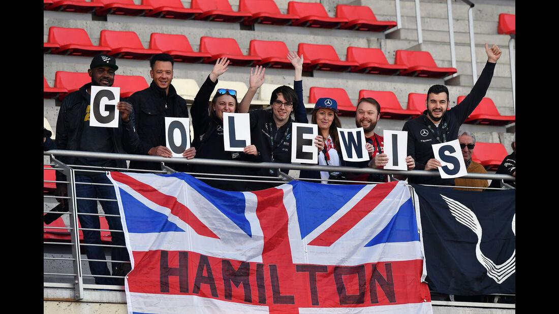 Lewis Hamilton Fans - Formel 1 - Test - Barcelona - 9. März 2017