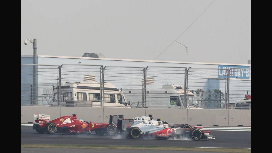 Lewis Hamilton - Fernando Alonso - Jenson Button  - Formel 1 - GP Indien - 28. Oktober 2012