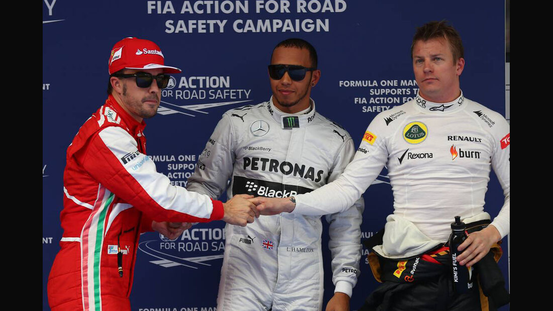 Lewis Hamilton - Fernando Alonso - Kimi Räikkönen - Formel 1 - GP China - 13. April 2013