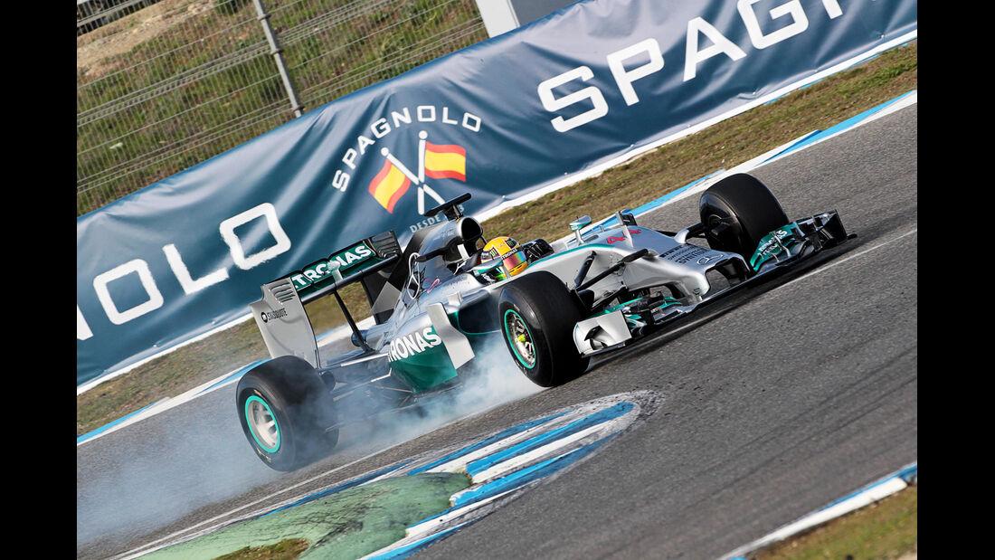 Lewis Hamilton - Formel 1 - Jerez-Test 2014