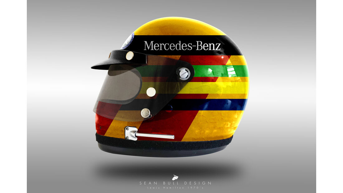 Lewis Hamilton - Formel 1 - Retro-Helme - Sean Bull - 2018