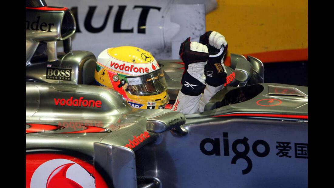 Lewis Hamilton GP Singapur 2009