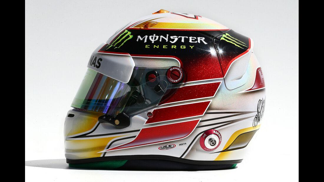 Lewis Hamilton Helm - GP Australien 2014