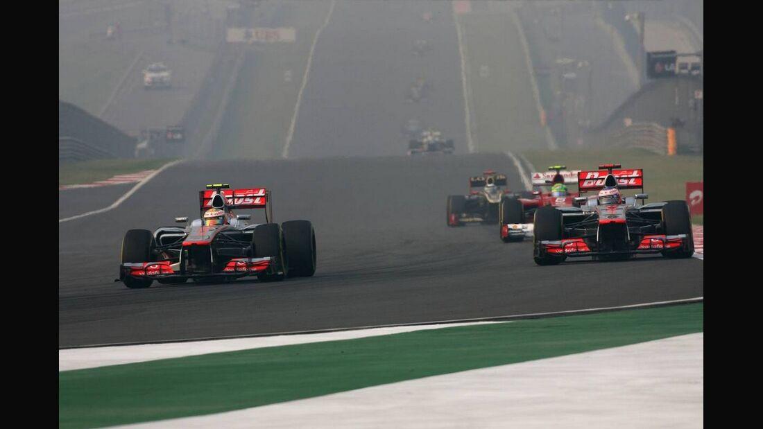 Lewis Hamilton - Jenson Button  - Formel 1 - GP Indien - 28. Oktober 2012