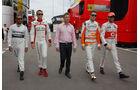 Lewis Hamilton - Max Chilton - Paul di Resta - Jenson Button - Formel 1 - GP Spanien - 9. Mai 2013