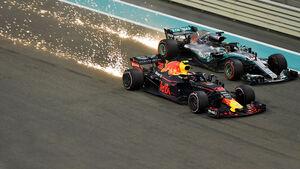 Lewis Hamilton & Max Verstappen - GP Abu Dhabi 2018