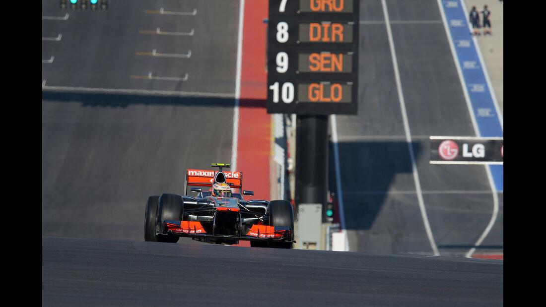 Lewis Hamilton - McLaren - Formel 1 - GP USA - Austin - 16. November 2012